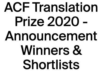 Tayiba Shortlisted for Translation Prize
